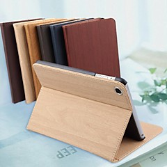 High Quality Pure Color Wood Grain Pattern Holster for iPad 4(Assorted Color)