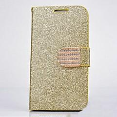 funkelnden Pulver Strass Metallschnalle pu Ganzkörper Fall mit Ständer für Samsung Galaxy N7100 (farblich sortiert)