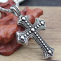Fashion Titanium Steel Cross Good Luck Man Necklace