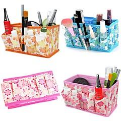 Opbevaringsløsninger til makeup Kosmetik Taske / Opbevaringsløsninger til makeup Blomst 18x10x9.7 Brun / Orange / Hvid