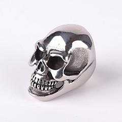 Z&X®  Punk Gothick Style Vintage Huge Size Skull Titanium Steel Men's Statement Ring