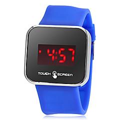banda toque de tela de silicone dos homens levaram relógio digital de pulso (cores sortidas)