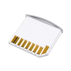 micro sd tf para adaptador mini kit de tarjeta sd para el aire del macbook de almacenamiento extra blanco / pro / retina
