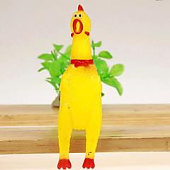 개를위한 닭 스타일의 고무 장난감 비명