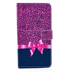 Varten Samsung Galaxy Note Korttikotelo / Tuella / Flip / Kuvio Etui Kokonaan peittävä Etui Leopardiprintti Tekonahka Samsung Note 4