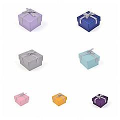 caixa do anel de papel laço de fita