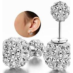 Shambhala Rhinestone Double Ball Earrings