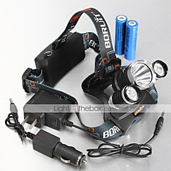 LT-062  4Mode  3xCREE XM-L T6  LED Bike Headlamp (5000LM.2X18650.Black)