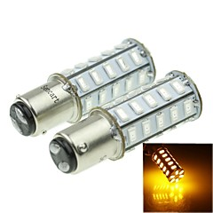 1157 20W 36X5730SMD 800-1200LM Yellow Light Led Bulb for Car Turn Lamp(A pair/AC12-16V)