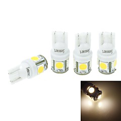 4 Pcs T10(149 168 W5W)2.5W 5X5054SMD 160-180LM 3000-3500K  Warm White Light for Car Lndicator (DC12-16V)