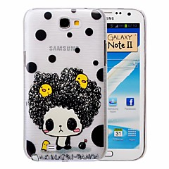 Cartoon Little Girl Pattern PC Brushed Case for Samsung Galaxy Note 2 N7100