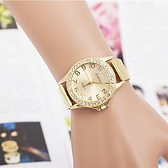 Moda kobieca cyrkonie pasek na nadgarstek numer stali kwarcowy zegarek