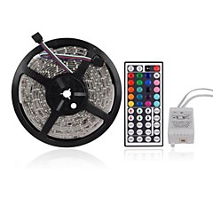 Z®ZDM 5M 300X3528 SMD RGB LED Strip Light with 44Key Remote Controller (DC12V)