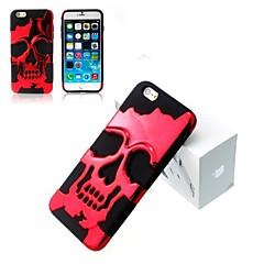 3d silício e metal moda crânios legal tampa da caixa traseira para iPhone 5 / 5s (cores sortidas)