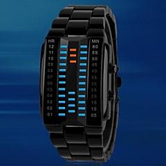 alliage de rectangle mode étanche montre électronique des hommes (couleurs assorties)