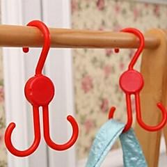 opvouwbare multifunctionele lucht schoenen haak handdoek haak (willekeurige kleur)