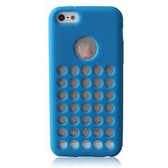 círculo cor sólida caixa do silicone caso macio para iPhone 5 / 5s (cores sortidas)