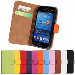 Genuine Leather Full Body Case with Stand and Card Slot for Samsung Galaxy Trend Life S7390 S7392 (Assorted Colors)