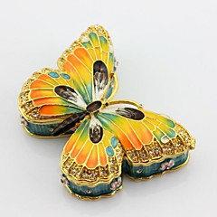 zománc ón pillangó csecsebecsét Ékszerdoboz