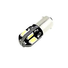 h6w bax9s 1W 8x5730 SMD LED 80lm 6000K hideg fehér izzó autó (DC 12V, 2db)