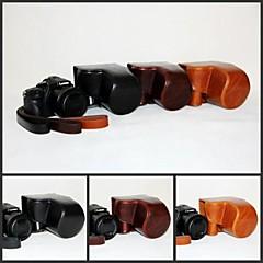 파나소닉 루믹스위한 어깨 끈과 dengpin PU 가죽 카메라 보호 케이스 가방 커버 DMC-fz1000 fz1000