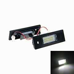4W 24X3528 SMD White light LED License Plate Light for E63 E64 E81 E87 E85(DC 12V)