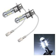 merdia h3 5w 82lm 10x5630smd LED bílé světlo foglight na auto - (12V / 2 ks)
