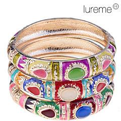 lureme®thailand tyyli värikäs opaali rannerengas (random väri)