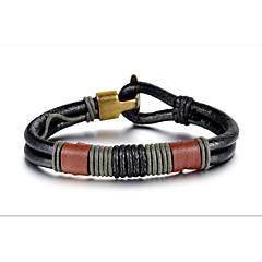 personlighed læder vævet mænds armbånd smykker
