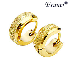 Men's Titanium Steel Golden Arenaceous Earring