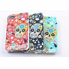 Toophone® JOYLAND Plastic Flowers and Skull Back Case for iPhone 4/4S (Assorted Color)