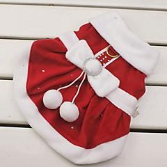 Manteaux / Pulls à capuche - Chiens - Hiver - Noël / Nouvel An - Rouge - en Matériel mixte - XS / S / M / L / XL