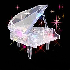 barnas pedagogiske leker piano diy 3d tredimensjonale krystall puslespill (tilfeldig farge)