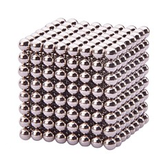 Magnet Toys 512Pcs 3mm Magnet Toys / Neodymium Magnet Executive Toys Puzzle Cube DIY Toys Magnetic Balls Silver Education Toys For Gift