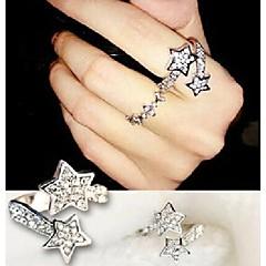 טבעות חתונה / Party / יומי / קזו'אל / ספורט תכשיטים סגסוגת / אבן נוצצת נשים טבעות רצועה8
