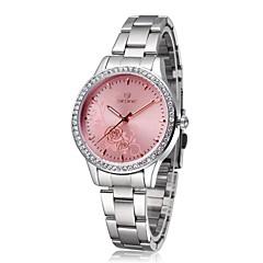 Skone vrouwen stalen horloge rose bloem mode vrouwen zakelijke horloge