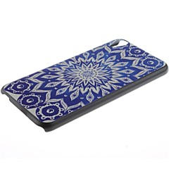 Blue Flowers Pattern PC Hard Case and Phone Holder for HTC Desire 820