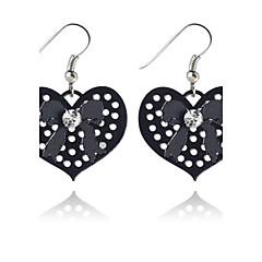 Dame Dråbeøreringe Kærlighed Hjerte minimalistisk stil Hul Europæisk kostume smykker Legering Hjerteformet Smykker Til Fest Daglig