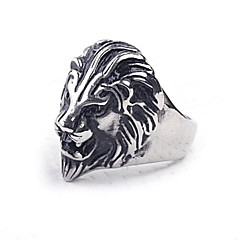 Z&X®  European Style Lion Titanium Steel Men's Statement Ring Christmas Gifts