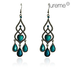 Lureme®Vintage Droplight Shaped Turquoise Earrings