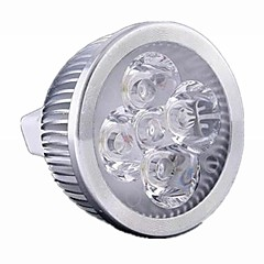 5W / 4W GU5.3(MR16) LED Spotlight MR16 4 High Power LED 400 lm Warm White / Cool White Dimmable DC 12 / AC 12 V 1 pcs