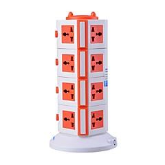 overbelastningsbeskyttelse 5v / 2.1a 4 sal med 15 universelle forretninger og 2 USB uk adapter strømskinner