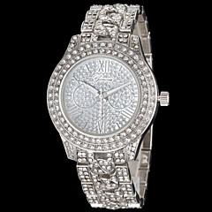 relógio de marcação de diamante liga diamante banda de pulso de quartzo das mulheres (cores sortidas)