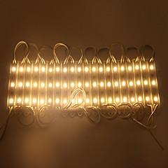 IP65 vandtæt 0,6 W 5050smd varmt hvidt lys LED-modul hård stribe bar lys lampe (DC 12V, 20pcs)