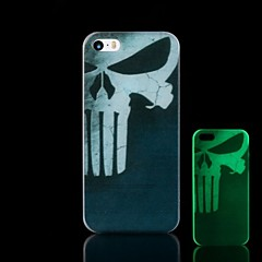 Skull Pattern Glow in the Dark Hard Case for iPhone 5/5S
