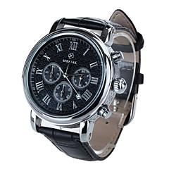 אופנת הגברים sp9049g speatak סיבוב שעון הנירוסטה פרק כף יד עור PU (צבעים שונים)