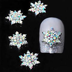 10szt Stras kwiat 3d kolorowe akcesoria aluminiowe diy paznokci dekoracji