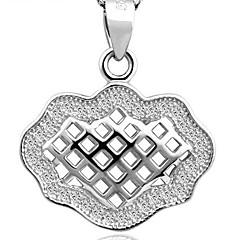 925 sterling zilver met diamant holle uit geluk slot hanger