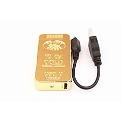 전기 펄스 아크 가벼운 전자를 충전 성격 골드 바람의 USB