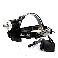 GOREAD T01 Waterproof 4-Mode 3*Cree XML T6 Headlamp(2500LM,18650 Battery Pack,Black)